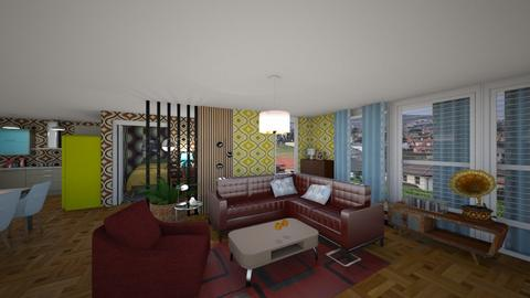 kkk remix1 retro - Living room  - by mikaelahs
