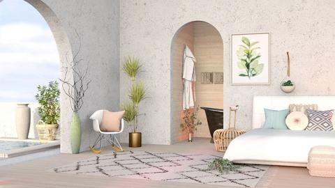 White and Wood  - Bedroom  - by seasidestarfish