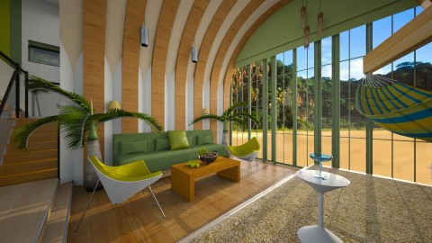 The Pineapple House - Modern - Living room  - by thefairysknight