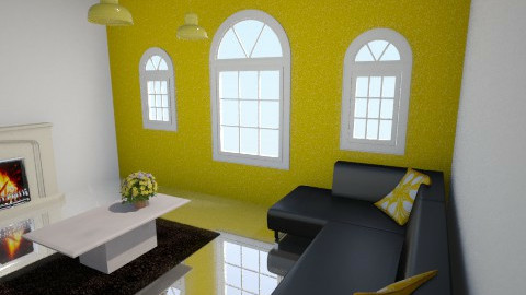 yellow & black room - by fluffybunny1426
