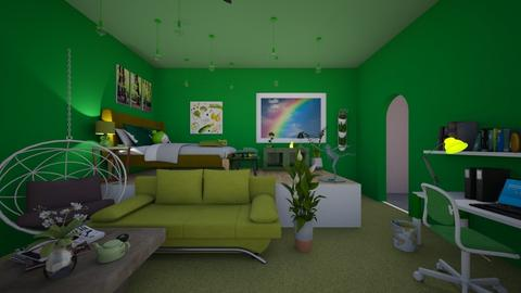 It Aint Easy Being Green - Vintage - Bedroom - by fisssshhh