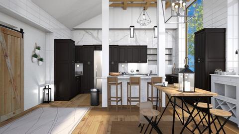 Modern Farmhouse - Kitchen  - by caitlincayce