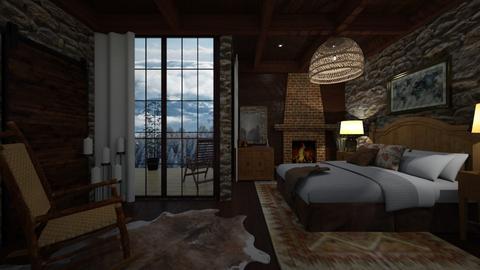 wood - Bedroom - by Grigoria Popli