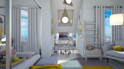 Calm Studio View 5 - Modern - Bedroom - by musicdesign22