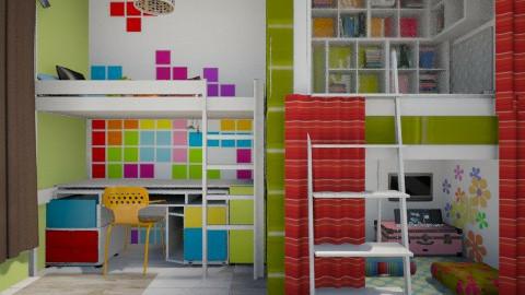 Reading Rainbow - Modern - Kids room  - by qazxwscv1234