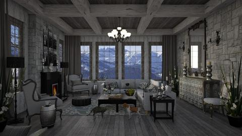 Gray of Winter - Living room  - by lydiaenderlebell