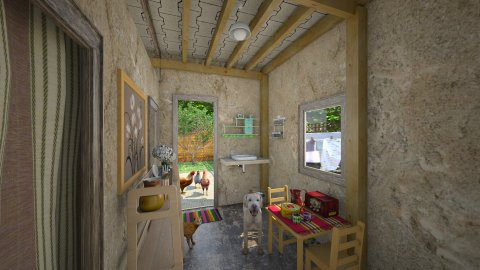 Cafofo - Rustic - Living room  - by Mariesse Paim