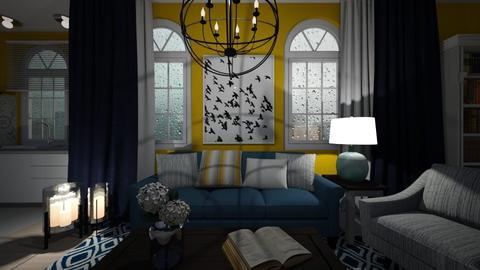 yellow - Living room - by Grigoria Popli