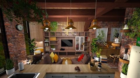 Cozy entertainment room - by Celia Schrag