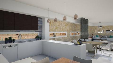 Desert House - Modern - Kitchen  - by giulygi