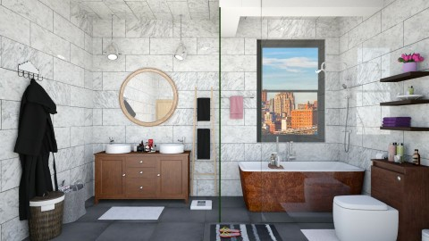 Williamsburg Apt Bathroom - Eclectic - Bathroom  - by creativediva