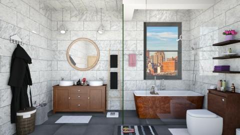 Williamsburg Apt Bathroom - Eclectic - Bathroom - by creativediva