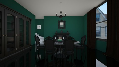 Green - Glamour - Dining room  - by creato