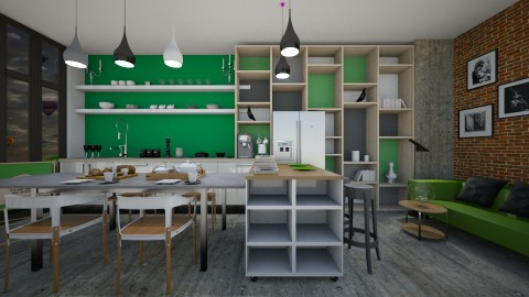 Loft kitchen - Kitchen - by Antoaneta Hristova