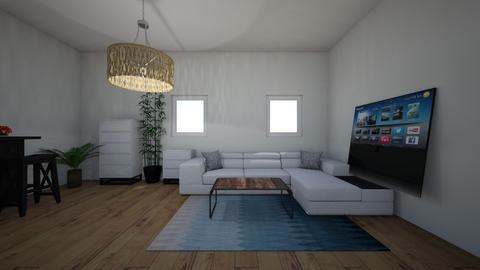 Blue bedroom living room - Modern - Bedroom  - by Annabel C