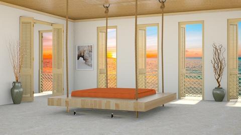 Beach House Bedroom - by yonvie