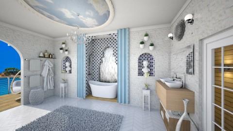 Classical greek bath - Classic - Bathroom  - by Randy Hamlin Jule