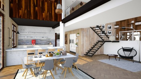 Wooden - Modern - Dining room  - by katarina_petakovi