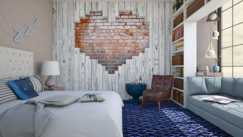 Brick heart - Bedroom  - by Liu Kovac