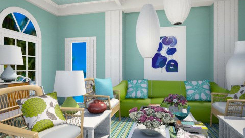 Costal Colors - Glamour - Living room  - by pachecosilv