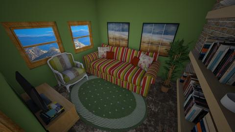 Cafofo 1 - Rustic - Living room  - by Mariesse Paim