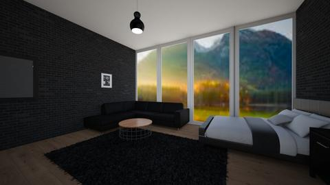 Black teenage room - Bedroom  - by KathyScott