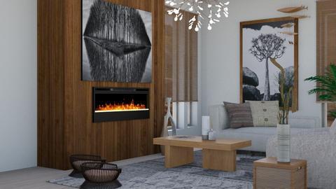 Japandi_Contest_ - Living room  - by claudia secareanu