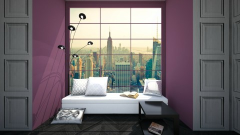 window bench - Glamour - Living room - by newyork4everloved