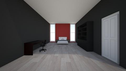 red and black roome - Bedroom  - by 153178