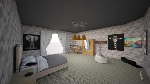 Hugo s Room - Vintage - Bedroom  - by Hugotorres89
