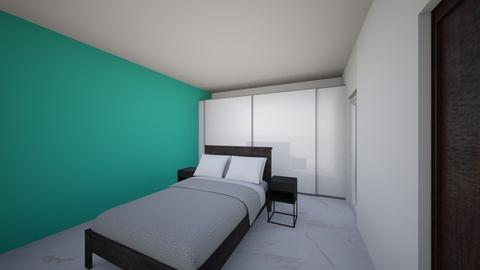 Bedroom in turquoise - Modern - Bedroom - by Anliz