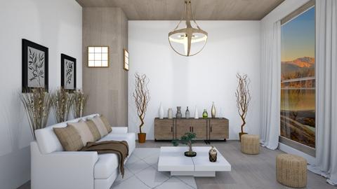 Japandi afternoon - Living room  - by babucka