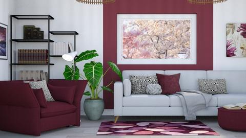 Plum - Modern - Living room  - by millerfam