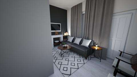 JAPANDI LOUNGE VIEW4 - Minimal - Living room - by moon_safi