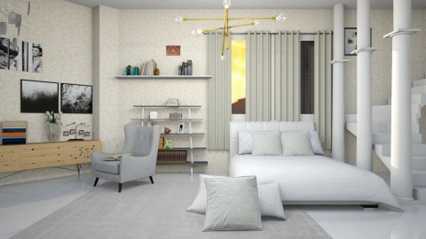 Mezz Stay - Minimal - Bedroom  - by fifi sefriyani