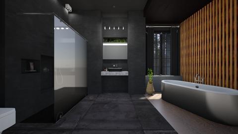 Bath Black - by claudia secareanu