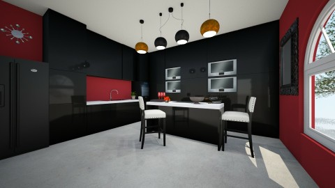 kitchen II - Glamour - Kitchen  - by Claudia Servin leyva