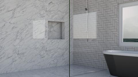 Modern Marble Bathroom - Bathroom  - by MilksDaBunz