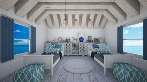beach house kidsroom - Kids room  - by ANAAPRIL