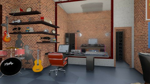ROCKSTAR1 - Eclectic - Living room  - by whateffer