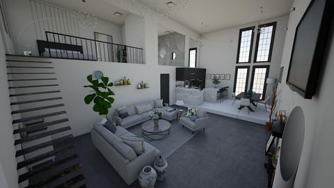 HOUSE 5 black white gray  - Modern - Living room  - by ritapireva