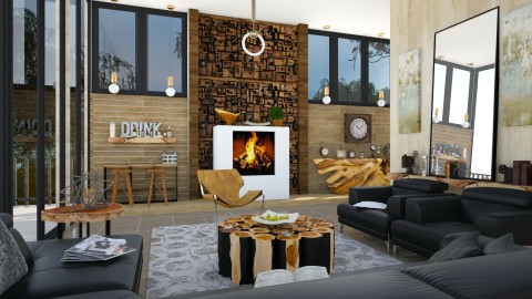 M_Passing time - Modern - Living room  - by milyca8