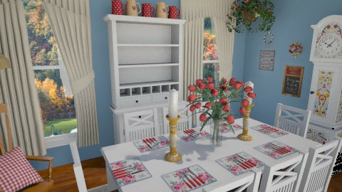 Country Dining Room - Country - Dining room  - by LadyVegas08