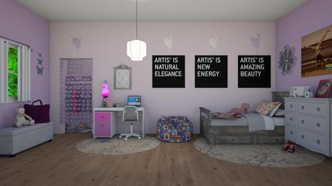 Tween Girl Jordan - Bedroom  - by KarJef