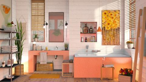 Orange White Bathroom 2 - Eclectic - Bathroom  - by Sally Simpson
