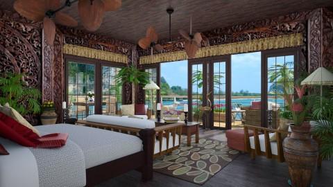 Design 149 Brazilian Beach House Bedroom - Bedroom  - by Daisy320