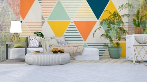geometric bedroom - Bedroom  - by iope