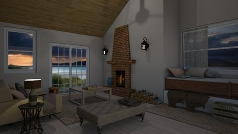 beach cottage - Living room - by Starry Eyed Loser
