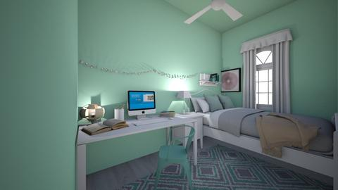 mint inspired closet bed - Bedroom  - by CloudyxxLavender