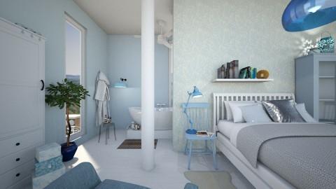 Blue Bedroom - by leenvandesande